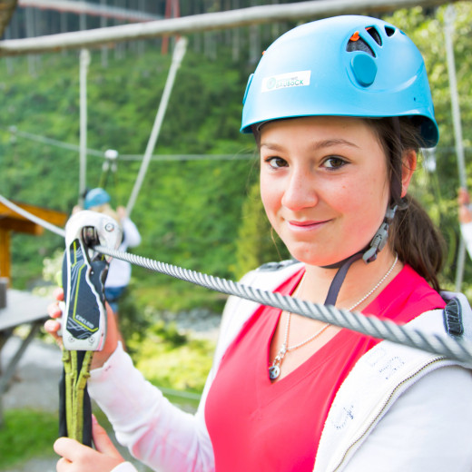 Ready for the high rope course | © Salzburgerland