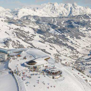 Aerial view of Saalbach | © TVB Saalbach Hinterglemm, Christian Wöckinger