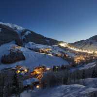 Saalbach Hinterglemm at night | © Daniel Roos
