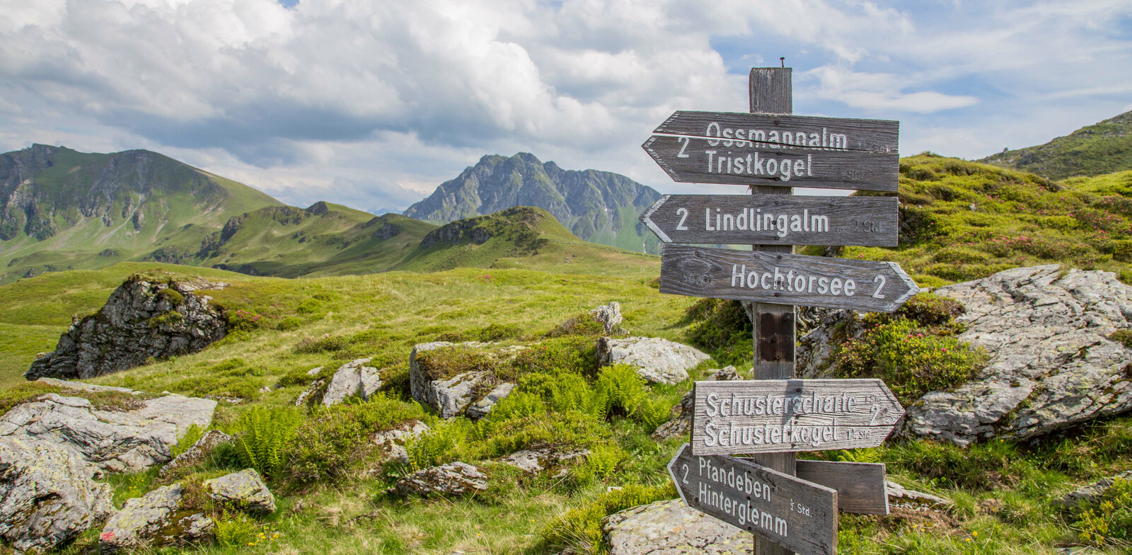 Signpost close to Hochtorsee. | © Thorsten Günthert