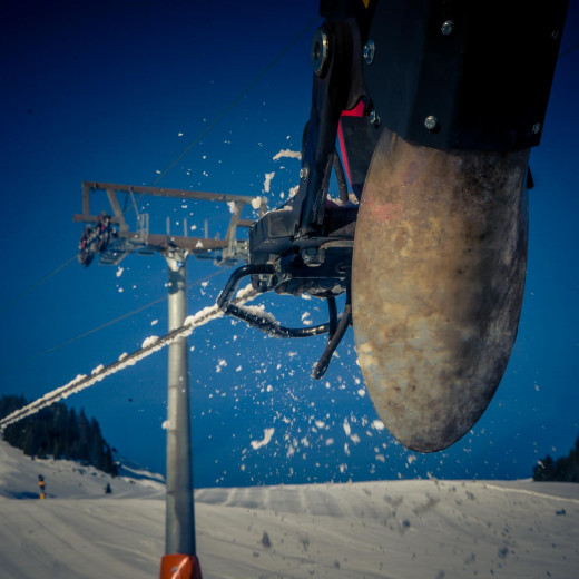 The winch of the piste basher | © Edith Danzer