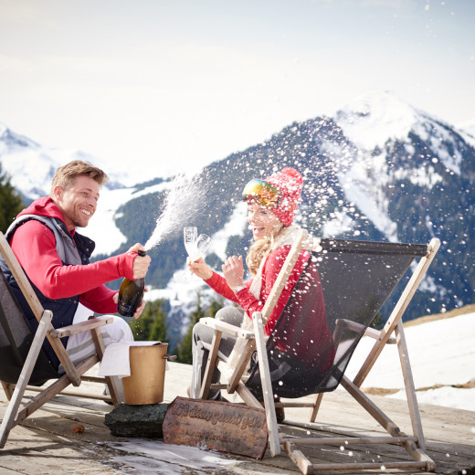 Relaxation in the deckchair | © Saalbach