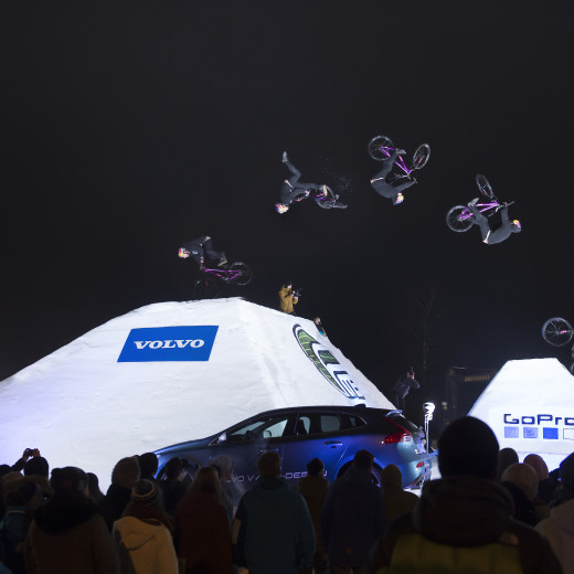 Unique bike event on snow. | © Christoph Laue