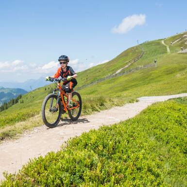 Nico is feeling great riding the Hacklberg Trail | © Heiko Mandl