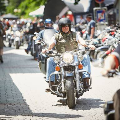 Harley-Spirit in the center of Hinterglemm | © Daniel Roos