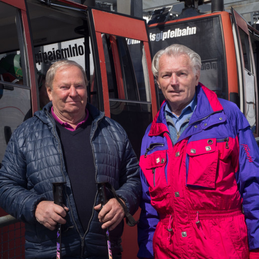They share a lot of memories with the old Kohlmaisbahn: Rudi Möschl and Wilfried Höller | © Edith Danzer