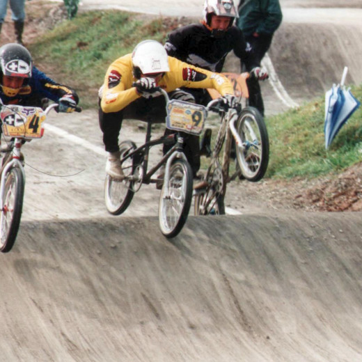 Tibor Simai and Tarek battle at a race in Esselbach 1997. | © Privat