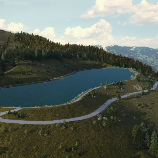 Visualisation of the new Rosswald reservoir