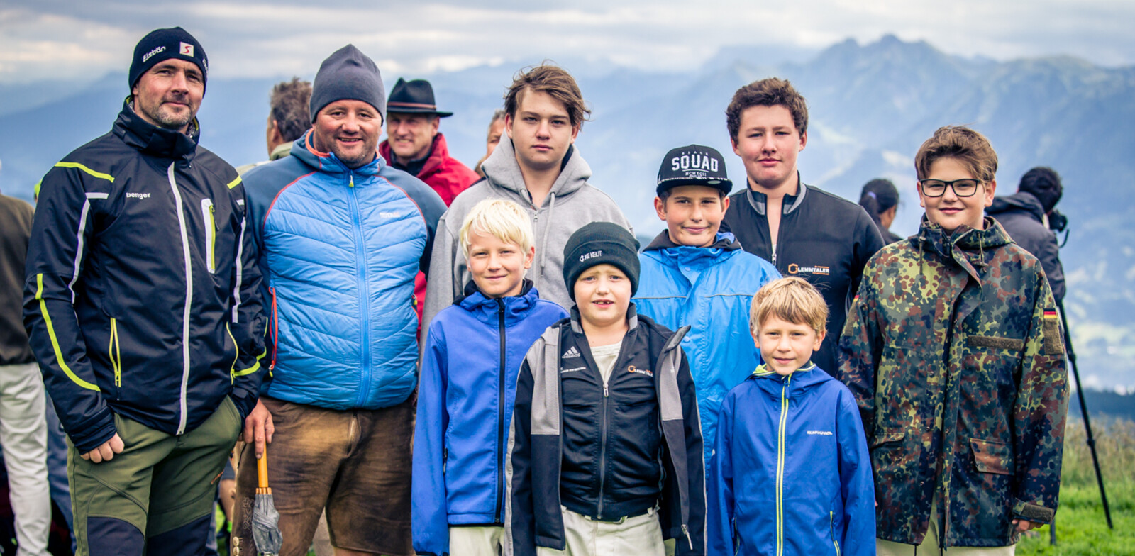 Ranggel-youngsters from Saalbach Hinterglemm with trainer Heli Kendler. | © Edith Danzer