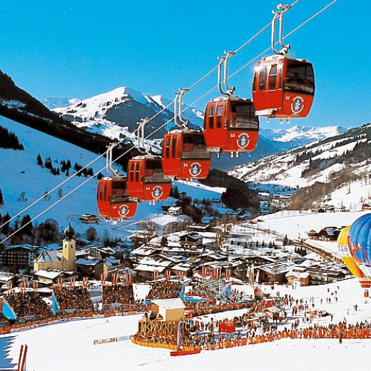 Kohlmais lift dominated the picture of Saalbach for decades (WC 1991) | © saalbach.com
