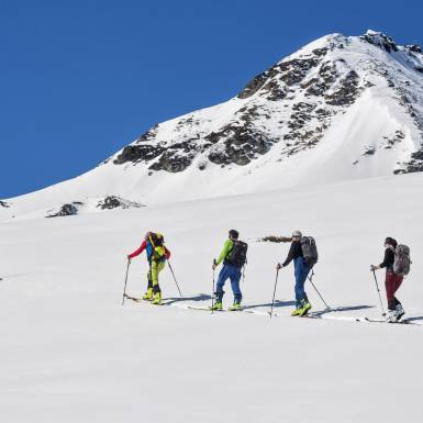 The group consists of experienced skitourers | © Heiko Mandl