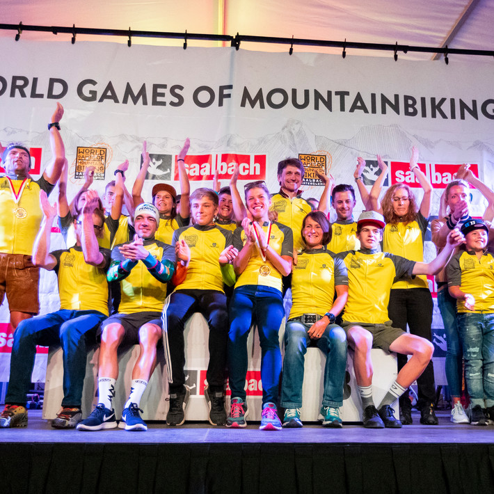 Siegerehrung World Games of Mountainbiking | © Martin Steiger